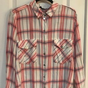 Sanctuary Plaid Boyfriend Shirt